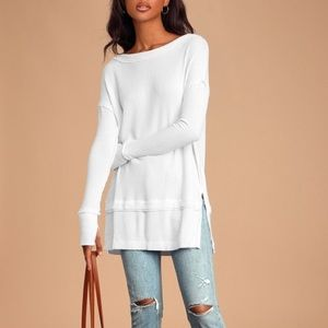 NWT Free People Thermal Sweater